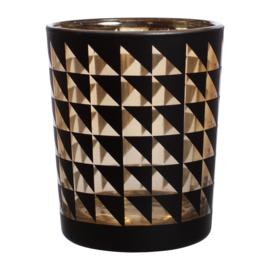 Kaarsenhouder Black & Gold (6,8 cm.) - Sema Design