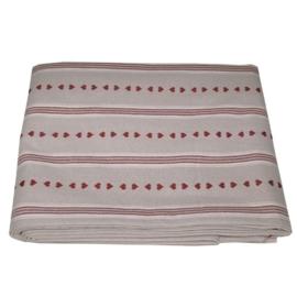 Tafelkleed Heart Stripe - Campagne