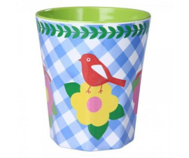 Beker Melamine Vintage Bird (300 ml.) - Ginger