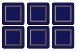 Onderzetters (6) - Pimpernel Classic Midnight Blue