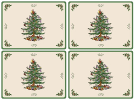 4 Placemats (40,1 cm.) - Pimpernel Christmas Tree