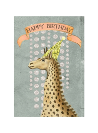 Kaart Birthday Giraffe - Papaya Art