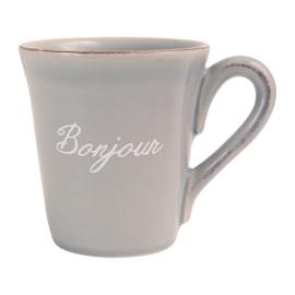 Mok Bonjour Grey (50 cl.) - Côté Table