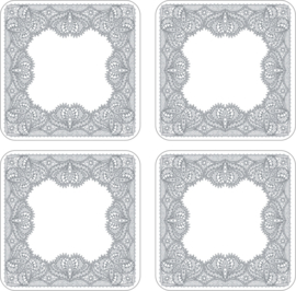4 Onderzetters Glamour Lace - Portmeirion Catherine Lansfield