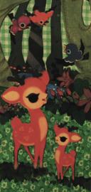 Ansichtkaart Hertjes & Vogels - Froy & Dind