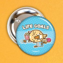 Broche 'Life Goals' - Fuzzballs