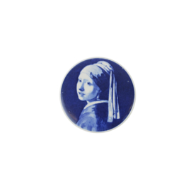 Magneet Meisje met de Parel (6 cm.) - Royal Delft
