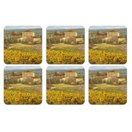 Onderzetters (6) - Pimpernel Tuscany