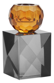 Kristallen Kandelaar Amber / Grey - Miss Étoile