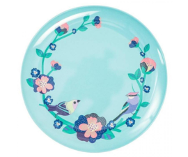 Dinerbord Melamine Singing Birds (25 cm.) - Ginger