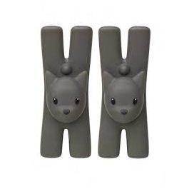 Set 2 Knijpers met Mageneet Lampo (8,5 cm.) - Alessi