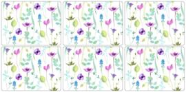 Placemats (6) - Pimpernel Water Garden