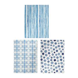 3 Theedoeken Cloam Blue - Côté Table