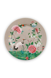 Serveerschotel Blushing Birds Khaki (32 cm.) - Pip Studio