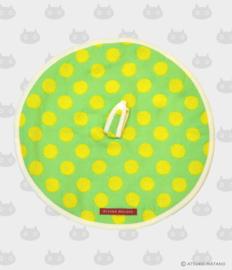Ronde Handdoek Atarashii Toshi Dots Green (32 cm.) - Atsuko Matano