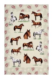 Linnen Theedoek Horses - Ulster Weavers