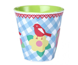Beker Melamine Vintage Bird (125 ml.) - Ginger