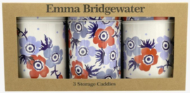Set 3 Blikken - Emma Bridgewater Anemone