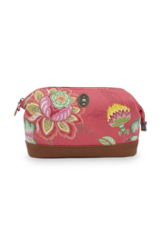 Cosmetica Tas Medium Jambo Flower Red (22,5 cm.) - Pip Studio