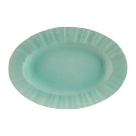 Ovale Serveerschotel Posei Turquoise (45 cm.) - Côté Table