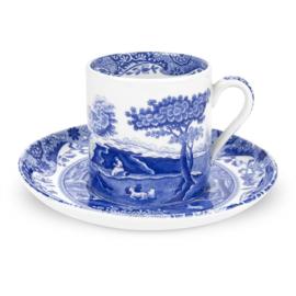 Koffiekop & Schotel (0,09 l.) - Spode Blue Italian