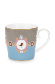 Mok Medallion Blue Khaki (250 ml.) - Pip Studio Love Birds