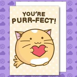 Kaart 'You're Purr-fect' - Fuzzballs