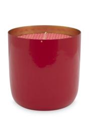 Kaars in Metalen Houder Red (9,5 cm.) - Pip Studio