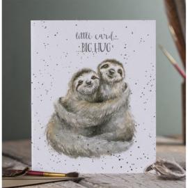Wenskaart 'Little Card BIG HUG' - Wrendale Desings