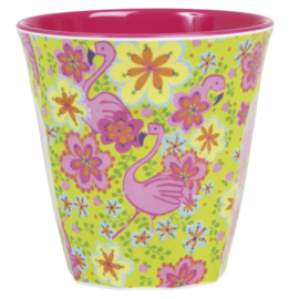 Melamine Beker Flamingo Medium - Rice