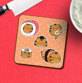 Onderzetter 'Tiger Sushi' - Fuzzballs