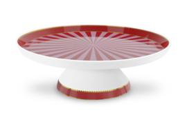 Taartplateau Red Pink Stripes (23,7 cm.) - Pip Studio Love Birds