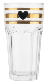 Longdrinkglas Golden Stripes (H. 16 cm.) - Miss Étoile