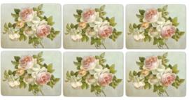 6 Placemats (30,5 cm.) - Pimpernel Antique Roses