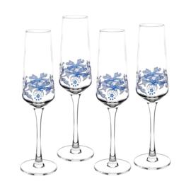 Champagneglas - Spode Blue Italian