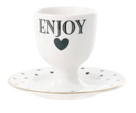 Eierdop met Schoteltje Enjoy - Miss Étoile