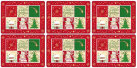 6 Placemats (30,5 cm.) - Pimpernel Christmas Blessing