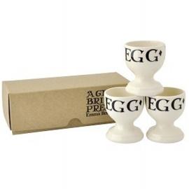Eierdopjesset (3) Boxed Black Toast - Emma Bridgewater