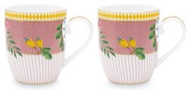 Cadeauset 2 Mokken Pink (145 ml.) - Pip Studio La Majorelle