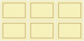 6 Placemats (30,5 cm.) - Pimpernel Classic Cream
