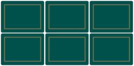 6 Placemats (30,5 cm.) - Pimpernel Classic Emerald