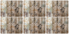 6 Placemats (30,5 cm.) - Pimpernel Frozen in Time