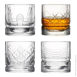 Set 4 Whiskyglazen (30 cl.) - La Rochère