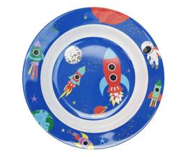 Diep Bord Melamine Happy in Space (20,5 cm.) - Ginger