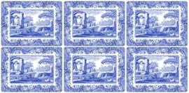 6 Placemats (30,5 cm.) - Pimpernel Blue Italian