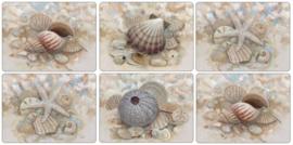 6 Placemats (30,5 cm.) - Pimpernel Beach Prize