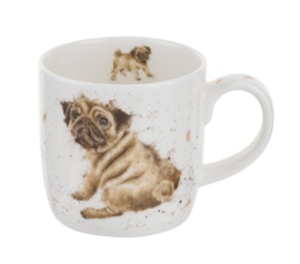 Mok Pug Love (0,31 l.) - Wrendale Designs