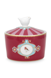 Suikerpot Medallion Red Pink (300 ml.) - Pip Studio Love Birds