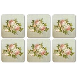 Onderzetters (6) - Pimpernel Antique Roses