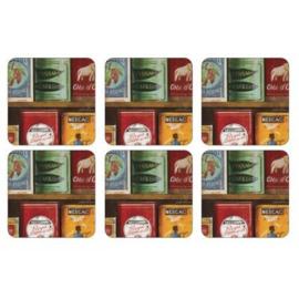 Onderzetters (6) - Pimpernel Vintage Tins